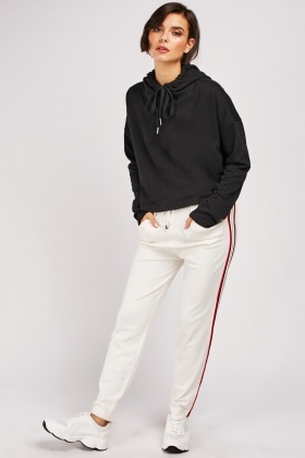 Metallic Stripe Side Jogger Pants