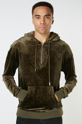 Velveteen Hooded Jumper