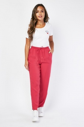 Tapered Pink Trousers