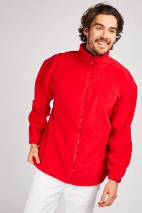 Zip Up Red Fleece Jacket