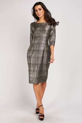 Speckled Glitter Midi Dress