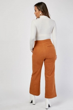 Straight Cut Cord Trousers