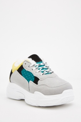 Chunky Colour-Block Trainers