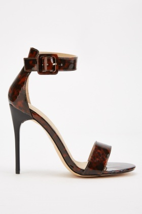 Tortoise-Shell Barely There Heel Sandals