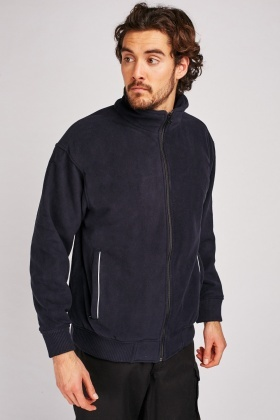 Navy Zip Up Fleece Jacket