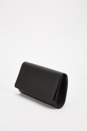 Textured Faux Leather Clutch Bag