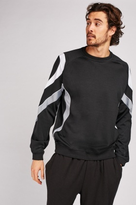 Colour Block Sports Sweatshirt