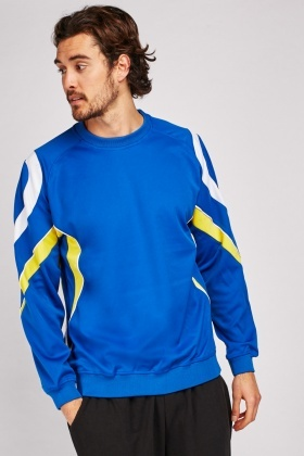 Contrasted Colour Block Sports Sweatshirt