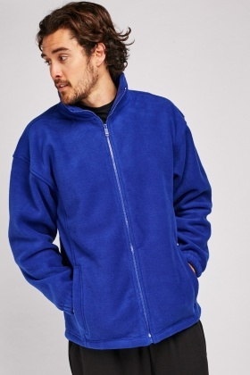 Zip Up Royal Blue Fleece Jacket