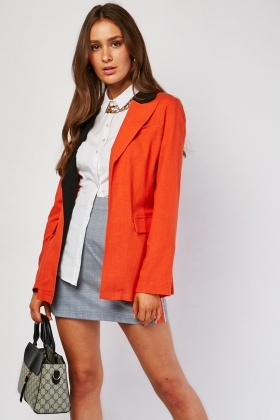Lapel Front Light Cotton Blazer