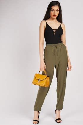 Light Plain Tapered Trousers