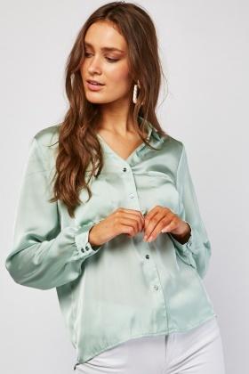 Long Sleeve Silky Shirt