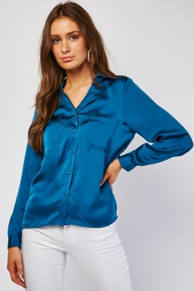 Long Sleeve Silky Shirt
