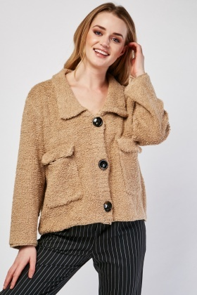 Textured Slouchy Jacket