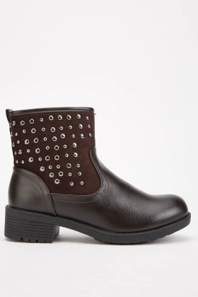 Studded Side Ankle Boots