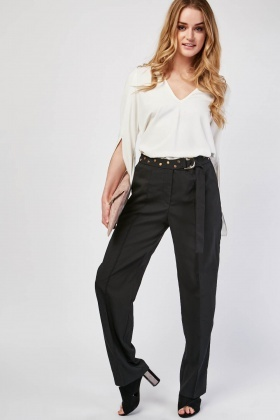 Studded D-Ring Belt Trousers