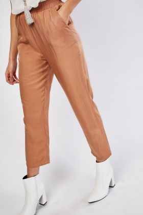 Silky Tapered Trousers