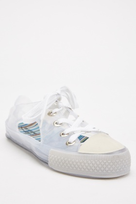 Cut Out Lace Up Jelly Plimsolls