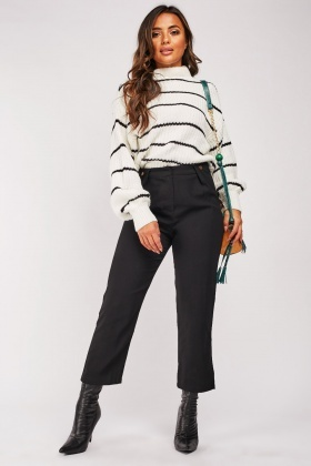 Straight Cut Peg Trousers