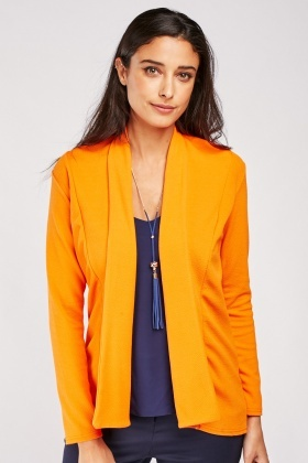 Textured Orange Blazer