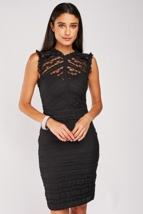 Lace Trim Bodycon Dress