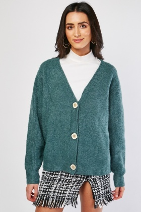 Slouchy Button Front Cardigan