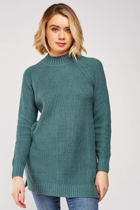 Chunky Knit Long Line Jumper