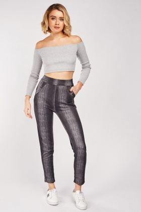 Encrusted Gradient Effect Leggings