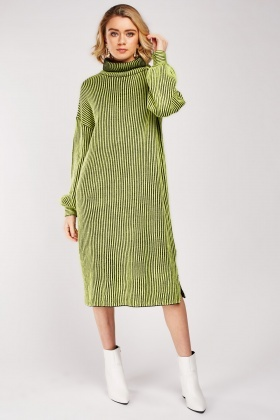 Roll Neck Chunky Jumper Dress