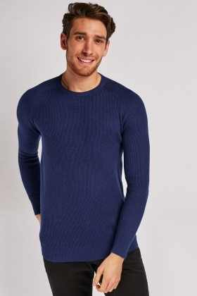 Casual Rib Knit Jumper