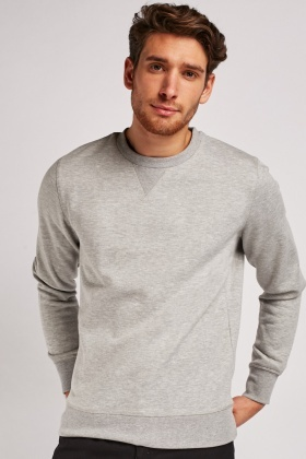 Long Sleeve Speckled Sweatshirt