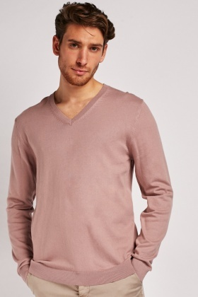 V-Neck Dusty Pink Sweater