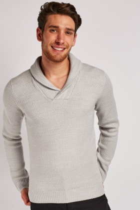 Single Button Front Knit Jumper