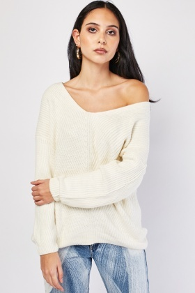 Criss Cross Back Chunky Jumper
