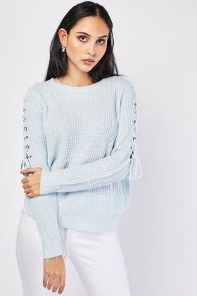 Lace Up Side Chunky Jumper