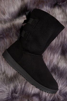 Bow Back Winter Boots