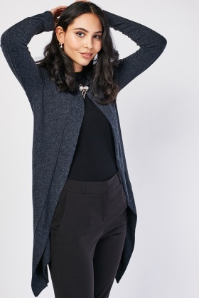 Broach Front Fine Knit Cardigan