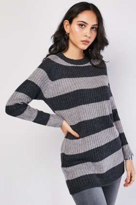 Horizontal Striped Knit Jumper