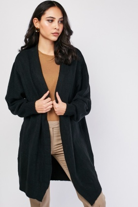 Plain Open Front Cardigan