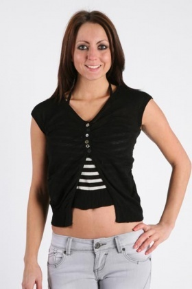 Two Layer Knitted Top