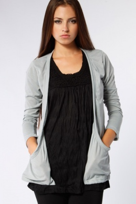 Boyfriends Thin Cardigan With Pockets