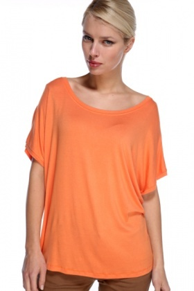 Zip Back Batwing Top