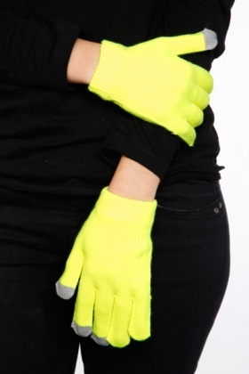 Neon Colours & Contrast Fingertips Gloves