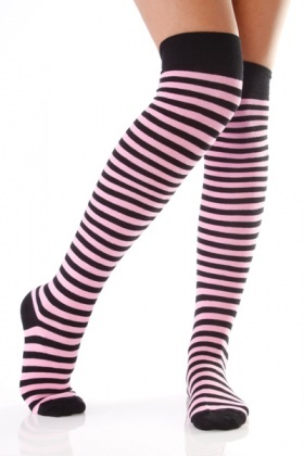 Medium Stripes Colourful Over-The-Knee Socks