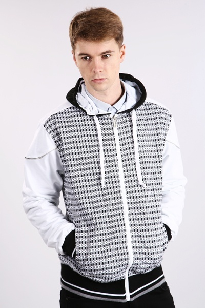 Retro Graphic Sports Jacket