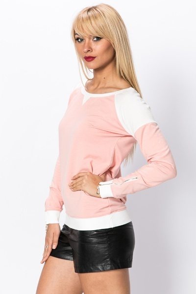 Two Tone Casual Pullover