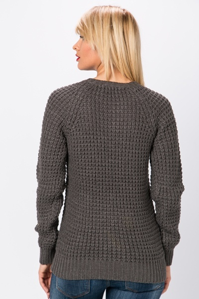 Casual Perforated Sweater
