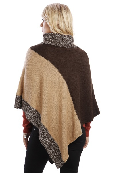 Contrast Colour Panel Poncho