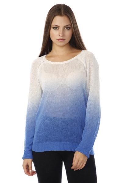 Colour Dip Sheer Knit Pullover
