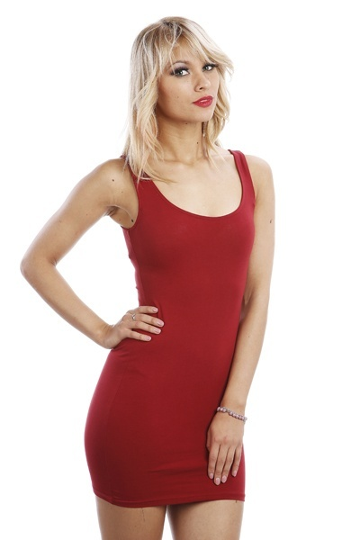 Cut Out Back Bodycon Tunic Dress